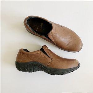 Merrell Jungle Moc Brown Slip-On Shoes 10.5